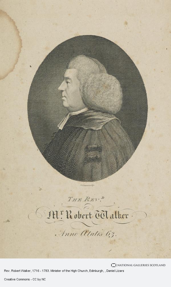 Daniel Lizars, Rev. Robert Walker, 1716 - 1783. Minister of the High Church, Edinburgh