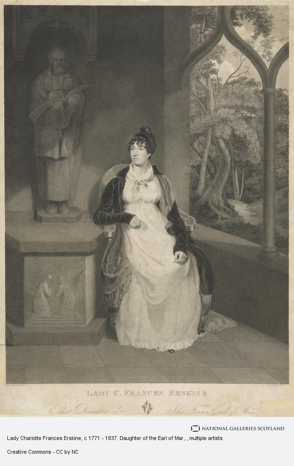 Edward Mitchell, Lady Charlotte Frances Erskine, c 1771 - 1837. Daughter of the Earl of Mar