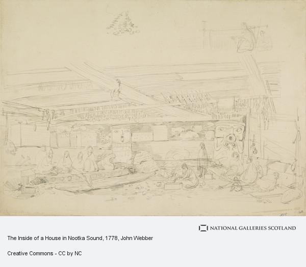 John Webber, Interior of a House in Nootka Sound