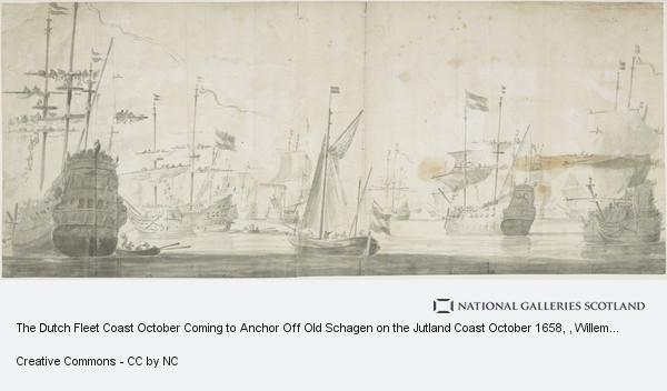 Willem van de Velde, the Elder, The Dutch Fleet Coast October Coming to Anchor Off Old Schagen on the Jutland Coast October 1658