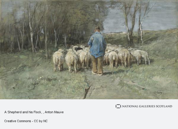Anton Mauve, A Shepherd and his Flock