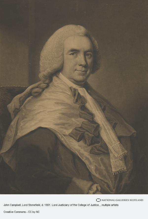 Charles Turner, John Campbell, Lord Stonefield, d. 1801. Lord Justiciary of the College of Justice