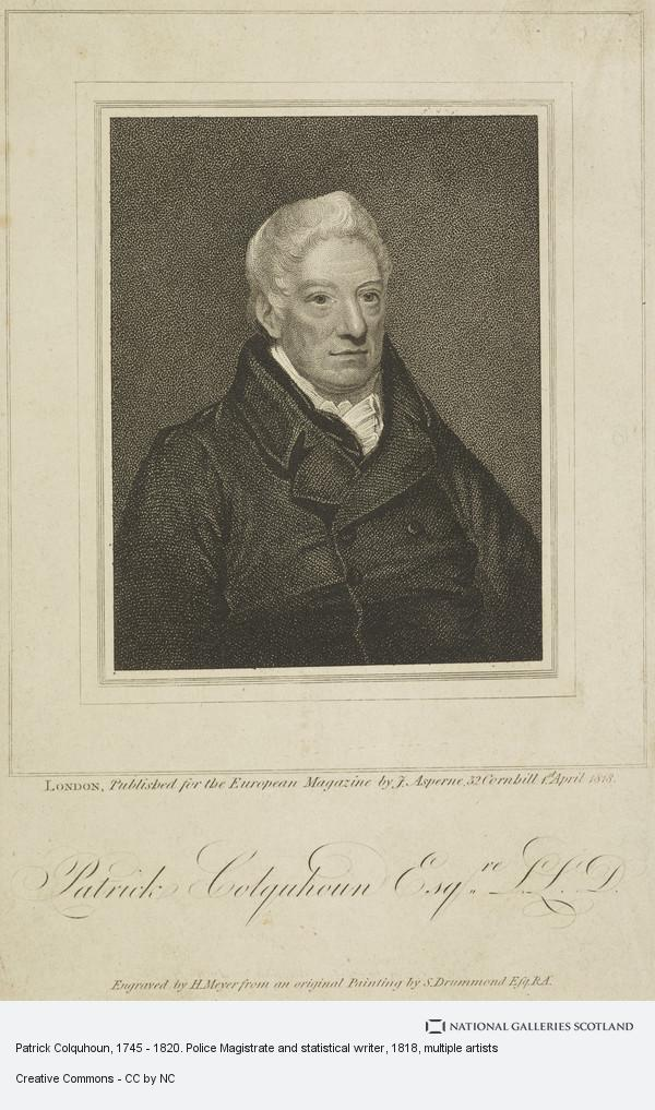 Patrick Colquhoun, 1745 - 1820. Police Magistrate and statistical ...
