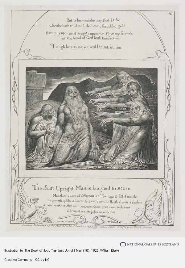 William Blake, Illustration to 'The Book of Job': The Just Upright Man (10)