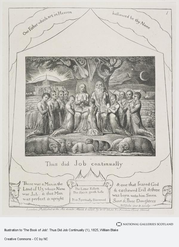 William Blake, Illustration to 'The Book of Job': Thus Did Job Continually (1)