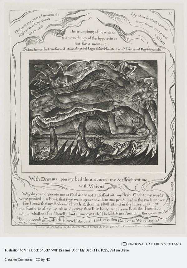 William Blake, Illustration to 'The Book of Job': With Dreams Upon My Bed (11)