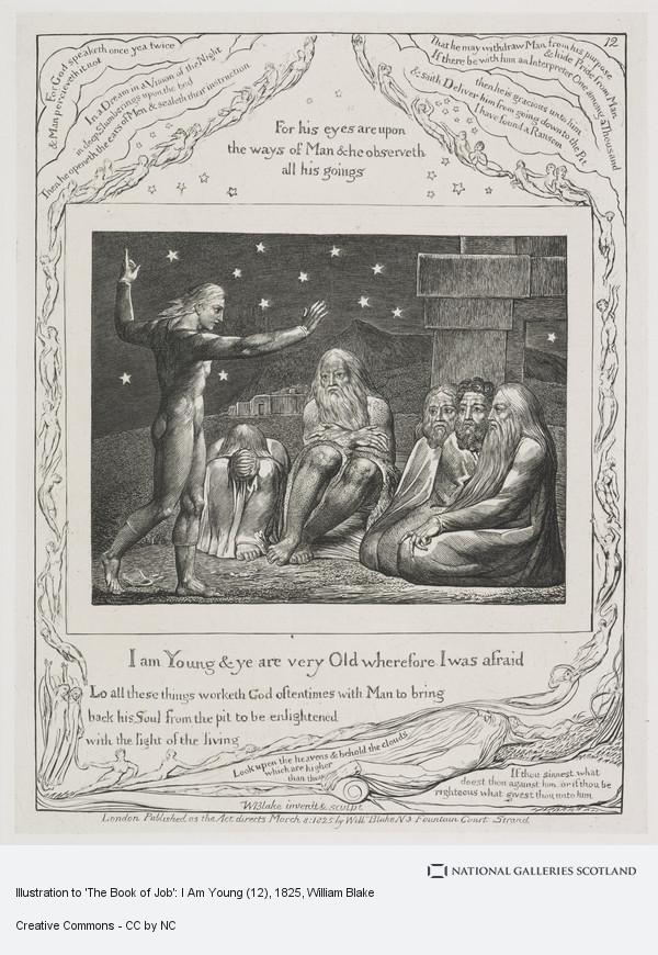 William Blake, Illustration to 'The Book of Job': I Am Young (12)