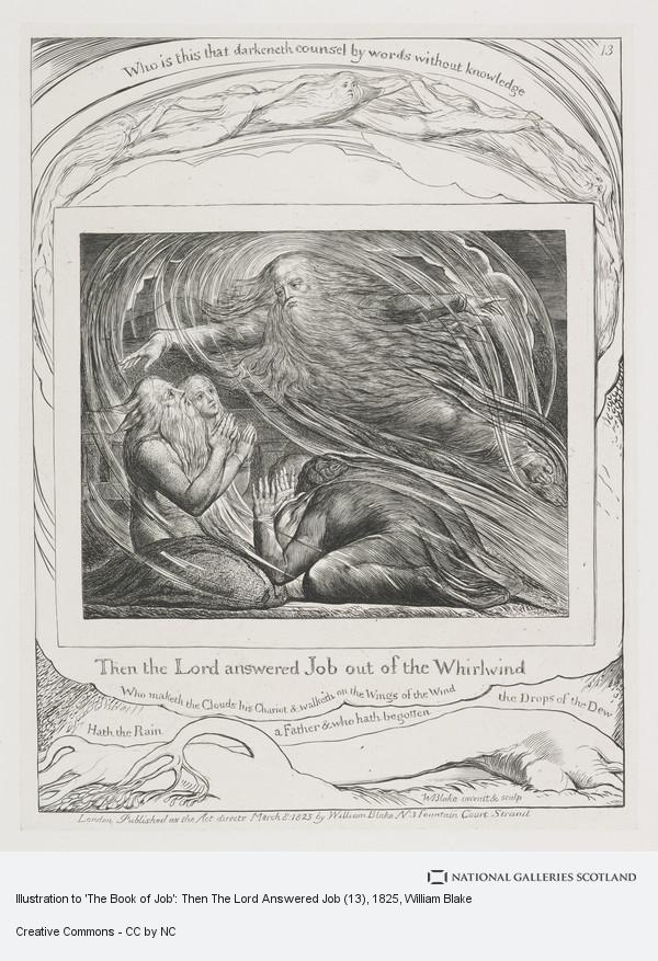 William Blake, Illustration to 'The Book of Job': Then The Lord Answered Job (13)