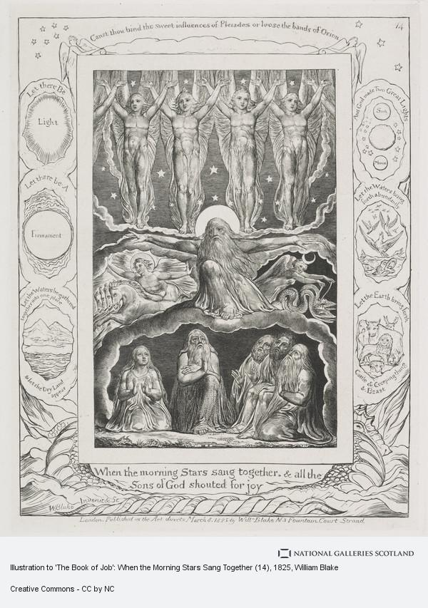 William Blake, Illustration to 'The Book of Job': When the Morning Stars Sang Together (14)