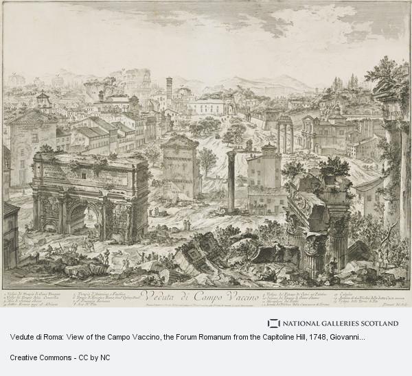 Giovanni Battista Piranesi, Vedute di Roma: View of the Campo Vaccino, the Forum Romanum from the Capitoline Hill