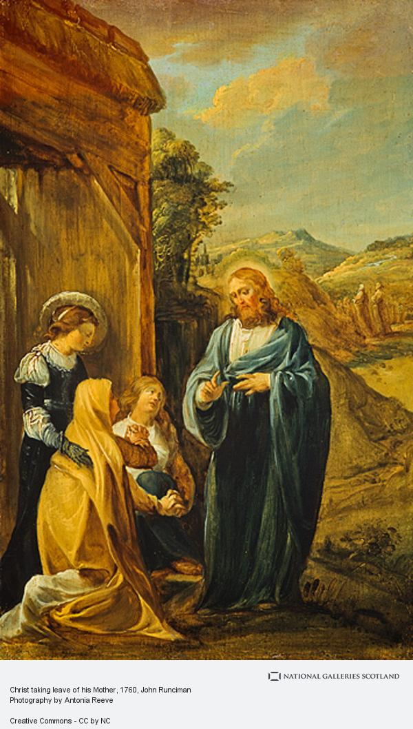 John Runciman, Christ taking leave of his Mother