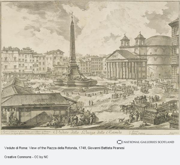 Giovanni Battista Piranesi, Vedute di Roma: View of the Piazza della Rotonda