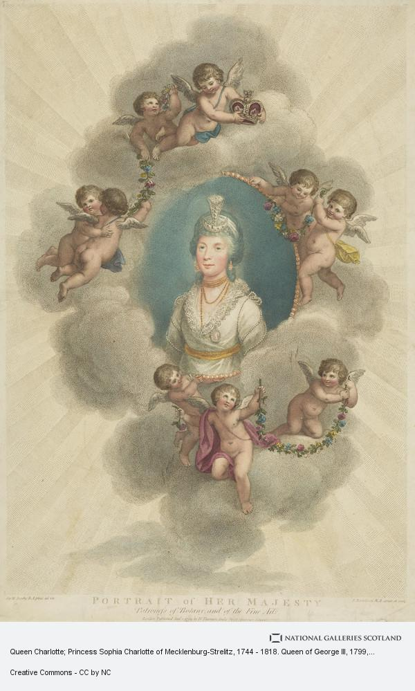 Francesco Bartolozzi, Queen Charlotte; Princess Sophia Charlotte of Mecklenburg-Strelitz, 1744 - 1818. Queen of George III