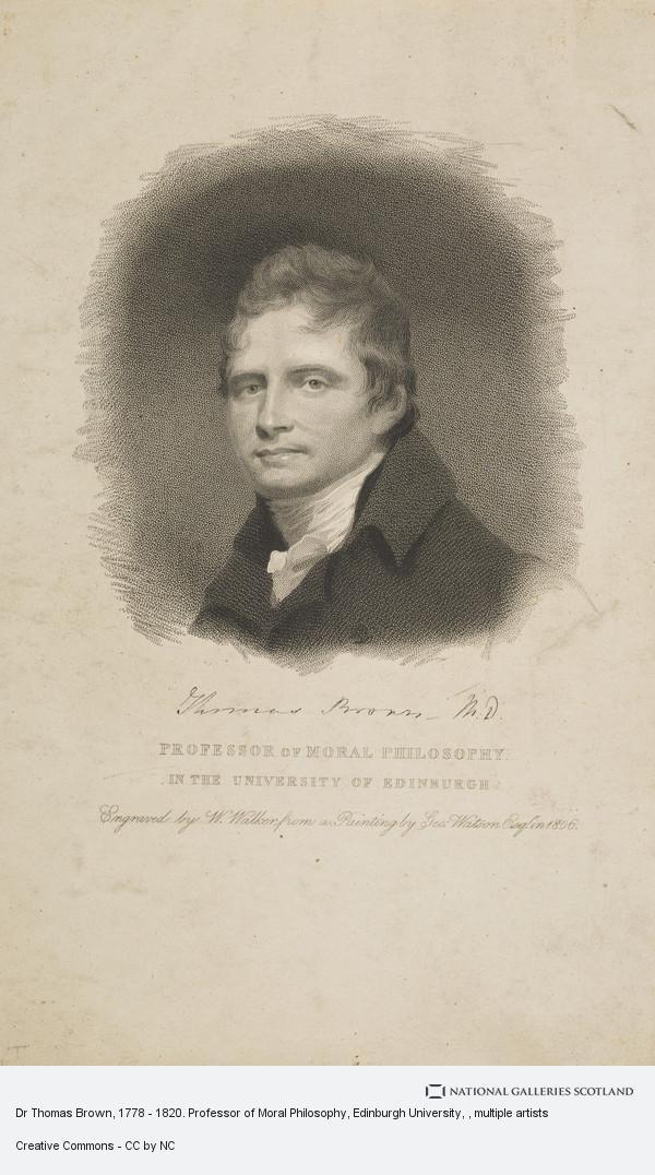 William Walker, Dr Thomas Brown, 1778 - 1820. Professor of Moral Philosophy, Edinburgh University