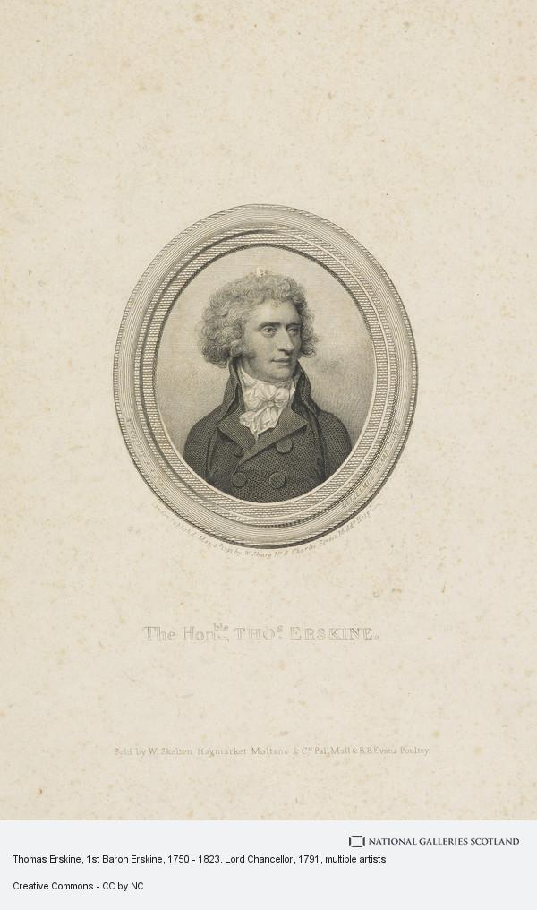 William Sharp, Thomas Erskine, 1st Baron Erskine, 1750 - 1823. Lord Chancellor
