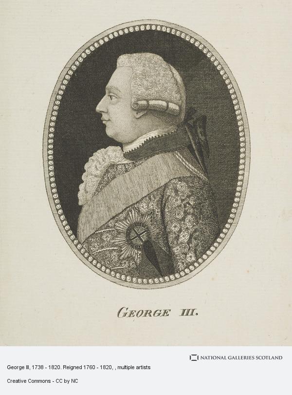 John Kay, George III, 1738 - 1820. Reigned 1760 - 1820