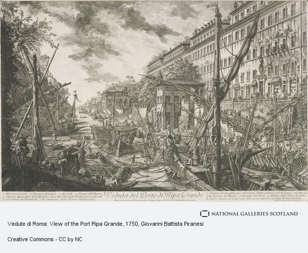 Giovanni Battista Piranesi, Vedute di Roma: View of the Port Ripa Grande