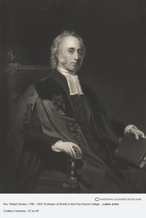 Edward Burton, Rev. Dr Robert Gordon, 1786 - 1853. Of the High Church, Edinburgh; Moderator of the General Assembly, 1841; Free Church minister