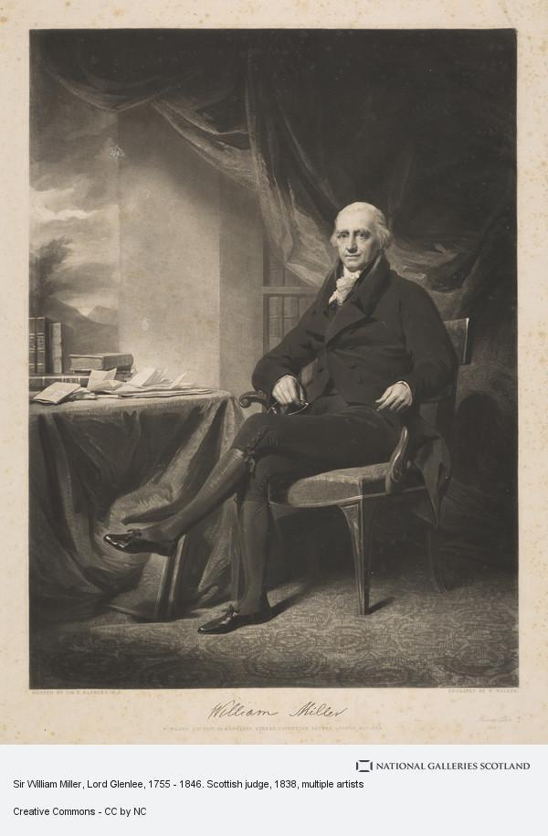 William Walker, Sir William Miller, Lord Glenlee, 1755 - 1846. Scottish judge