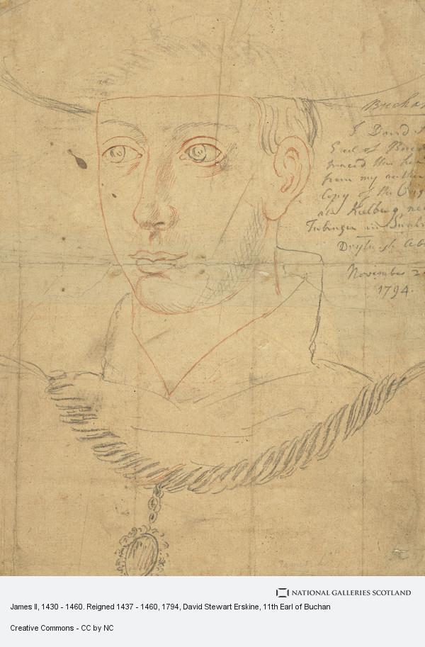 David Steuart Erskine, James II, 1430 - 1460. Reigned 1437 - 1460