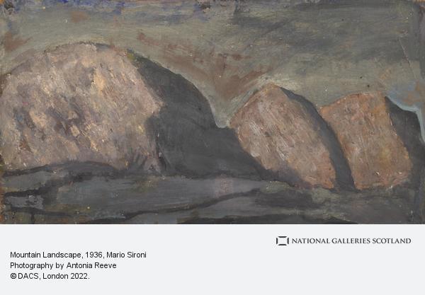 Mario Sironi, Mountain Landscape