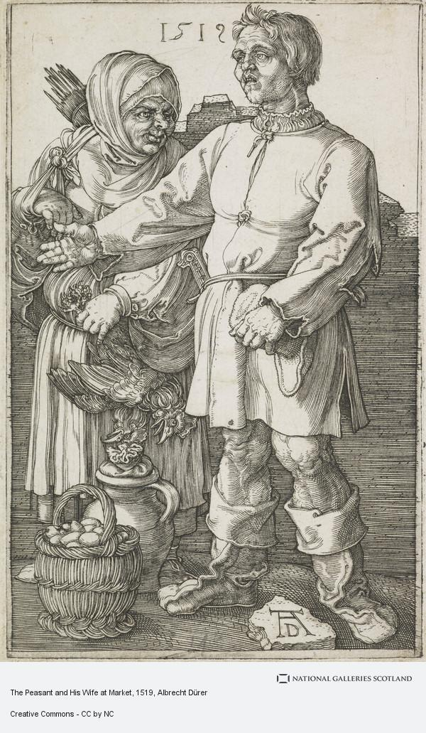 Albrecht Dürer, The Peasant and His Wife at Market