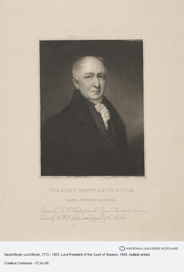 Robert Moore Hodgetts, David Boyle, Lord Boyle, 1772 - 1853. Lord President of the Court of Session