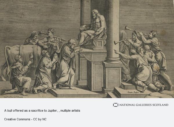 Diana Scultori, A bull offered as a sacrifice to Jupiter