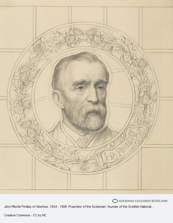W. Graham Boss, John Ritchie Findlay of Aberlour, 1824 - 1898. Proprietor of the Scotsman; founder of the Scottish National Portrait Gallery
