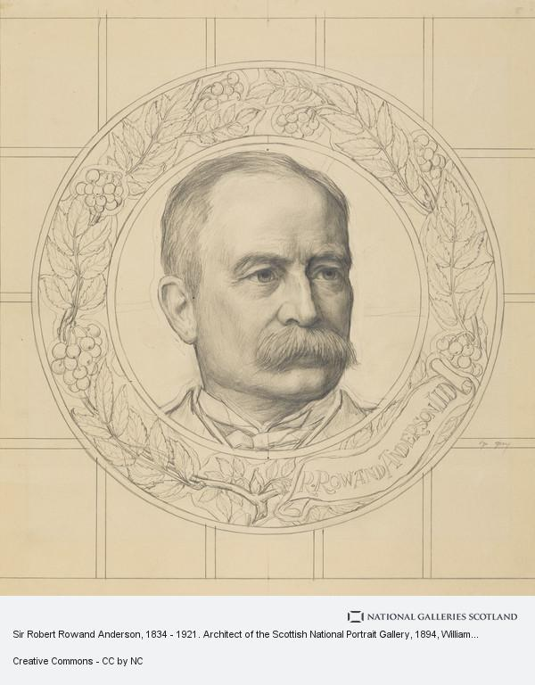 W. Graham Boss, Sir Robert Rowand Anderson, 1834 - 1921. Architect of the Scottish National Portrait Gallery (1894)