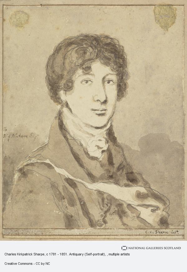 Charles Kirkpatrick Sharpe, Charles Kirkpatrick Sharpe, c 1781 - 1851. Antiquary (Self-portrait)