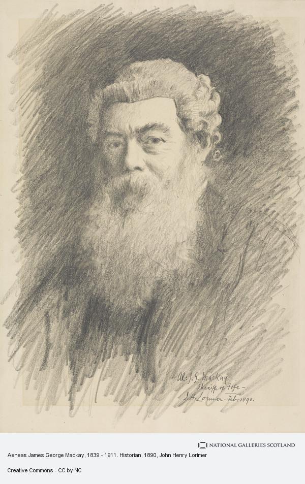 John Henry Lorimer, Aeneas James George Mackay, 1839 - 1911. Historian