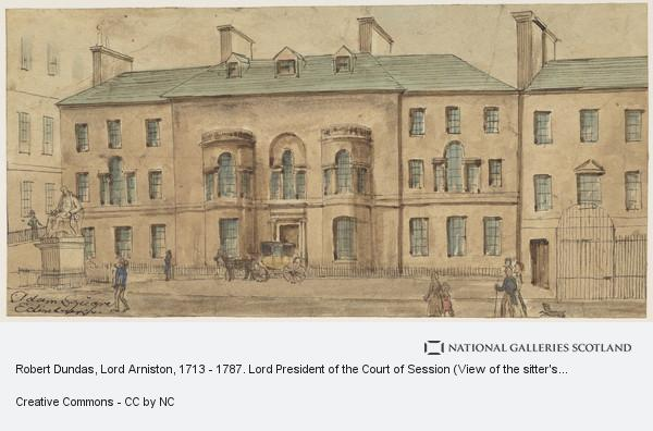 Unknown, Robert Dundas, Lord Arniston, 1713 - 1787. Lord President of the Court of Session (View of the sitter's house in Adam Square)