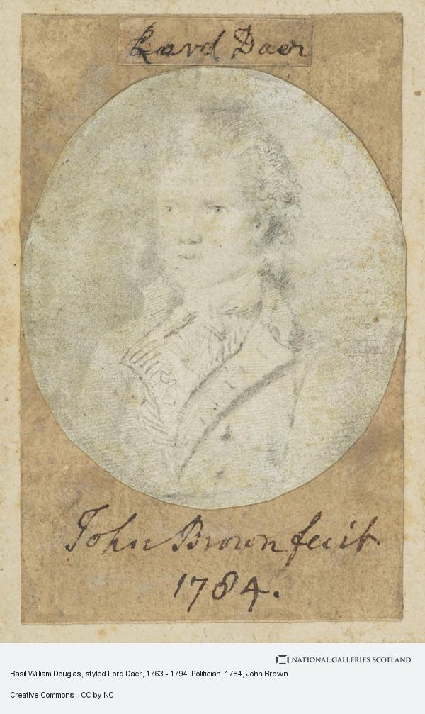 John Brown, Basil William Douglas, styled Lord Daer, 1763 - 1794. Politician