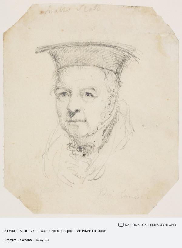 Sir Edwin Landseer, Sir Walter Scott, 1771 - 1832. Novelist and poet