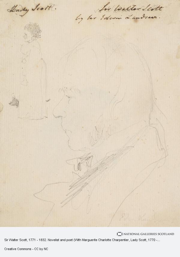 Sir Edwin Landseer, Sir Walter Scott, 1771 - 1832. Novelist and poet (With Marguerite Charlotte Charpentier, Lady Scott, 1770 - 1826)