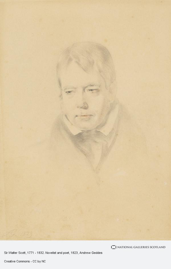 Andrew Geddes, Sir Walter Scott, 1771 - 1832. Novelist and poet