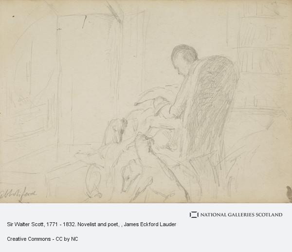 James Eckford Lauder, Sir Walter Scott, 1771 - 1832. Novelist and poet