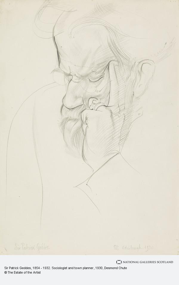 Desmond Chute, Sir Patrick Geddes, 1854 - 1932. Sociologist and town planner