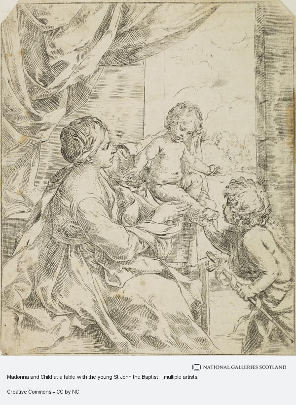 Guido Reni, Madonna and Child at a table with the young St John the Baptist