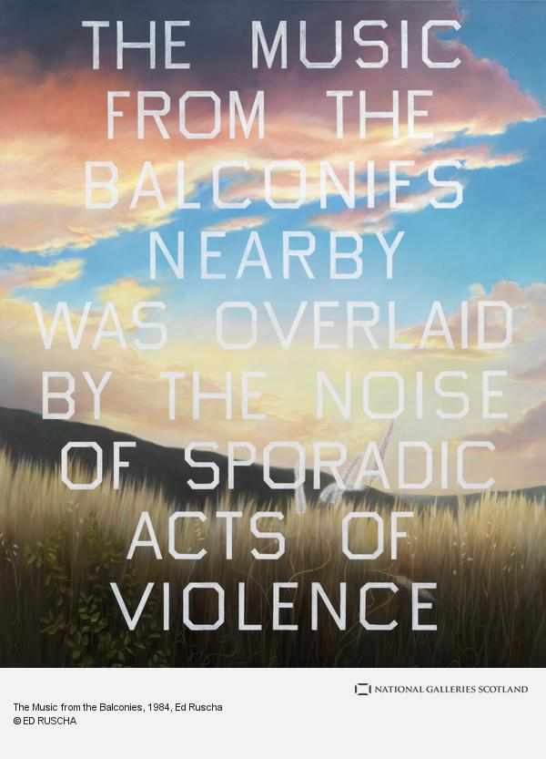 Ed Ruscha, The Music from the Balconies (1984)