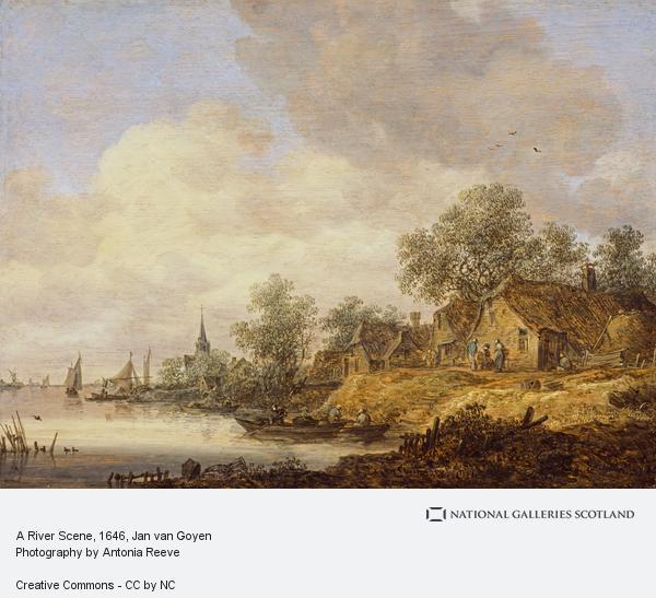 Jan van Goyen, A River Scene
