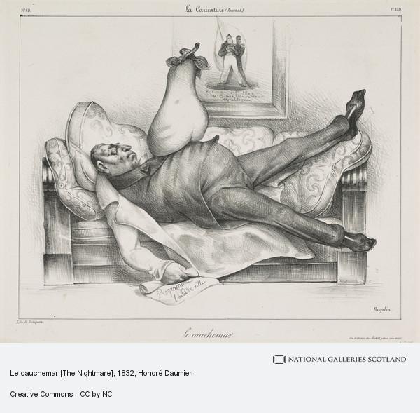 Honoré Daumier, Le cauchemar [The Nightmare]