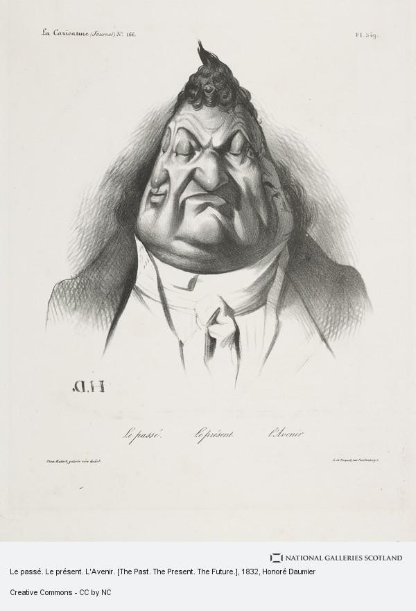 Honoré Daumier, Le passé. Le présent. L'Avenir. [The Past. The Present. The Future.]