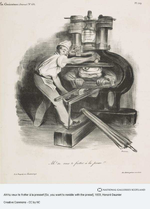 Honoré Daumier, Ah! tu veux te frotter à la presse!! [So, you want to meddle with the press!]