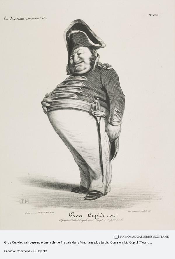 Honoré Daumier, Gros Cupide, va! (Lepeintre Jne. rôle de Tragala dans Vingt ans plus tard). [Come on, big Cupid! (Young Lepeintre in the role of Tragala in the...