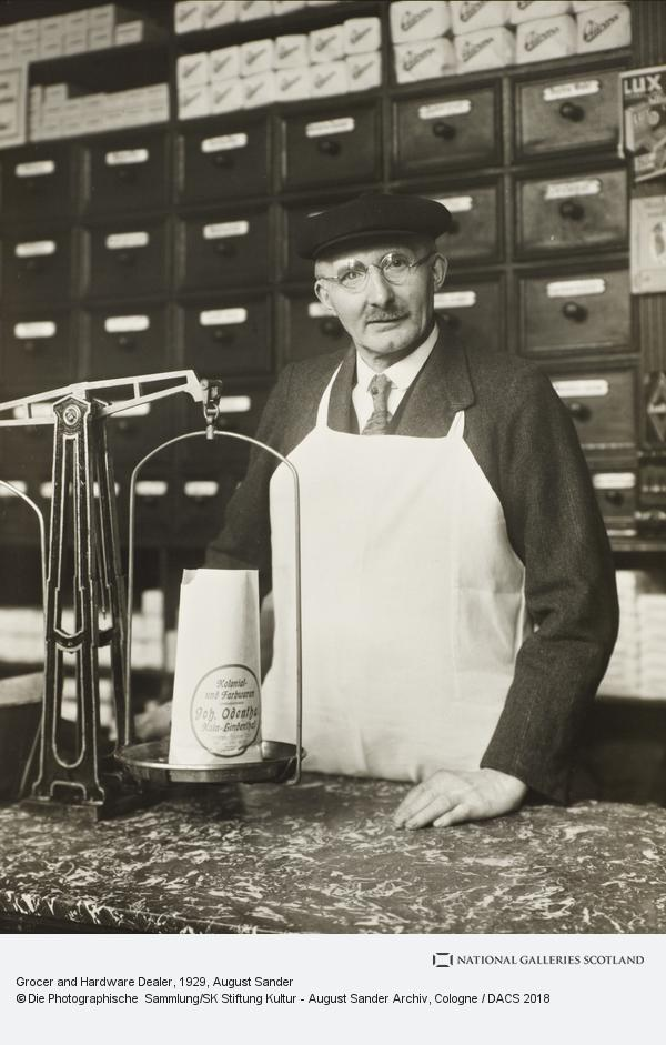 August Sander, Grocer and Hardware Dealer, about 1929 (about 1929)
