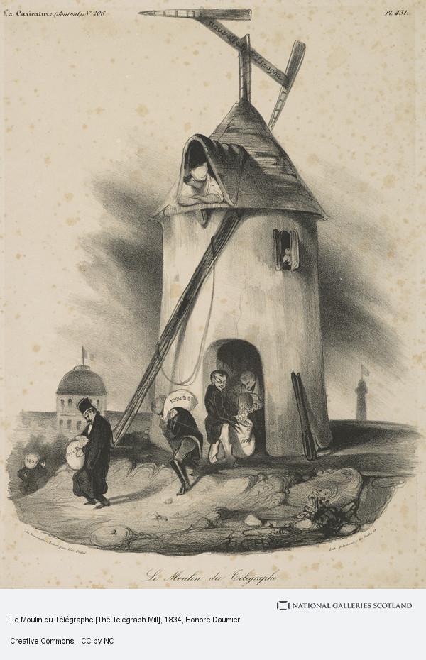 Honoré Daumier, Le Moulin du Télégraphe [The Telegraph Mill]