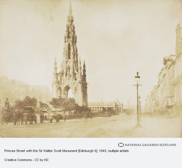 David Octavius Hill, Princes Street with the Sir Walter Scott Monument [Edinburgh 9]