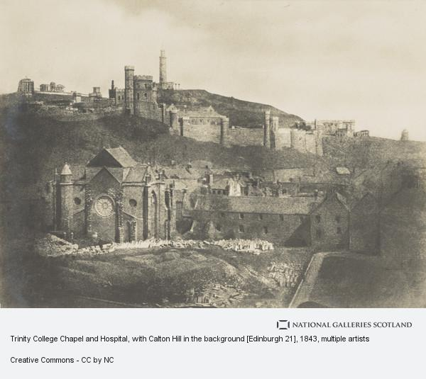 David Octavius Hill, Trinity College Chapel and Hospital, with Calton Hill in the background [Edinburgh 21]